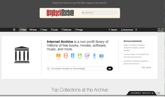 The new user interface of the Internet Archive